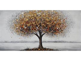120x60 cm - Olieverf Schilderij - Bruine Boom - natuur handgeschilderd