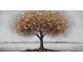Olieverf Schilderij Bruine Boom - 120x60 cm