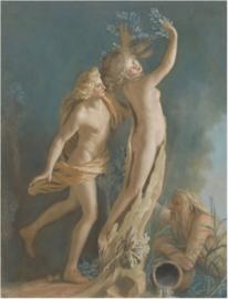 80 x 120 cm - Plexiglas klassiek Schilderij - Apollon et Daphné - klassieke kunst afbeelding op acryl - oude meesters!