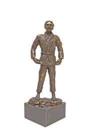 bronzen beeldje - sculptuur - sport - Judo - Martinique