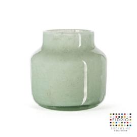 Design vaas Pax - Fidrio MOSS - glas, mondgeblazen bloemenvaas - diameter 19 cm hoogte 20 cm