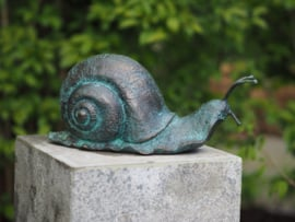 Beeld brons Slak - Tuinbeeld - Bronzartes