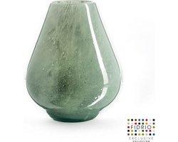 Design vaas venice - Fidrio MOSS - glas, mondgeblazen bloemenvaas - diameter 19 cm hoogte 25 cm --