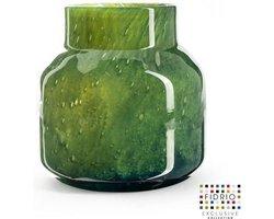 Design vaas Pax - Fidrio AMAZONE - glas, mondgeblazen bloemenvaas - diameter 19 cm hoogte 20 cm