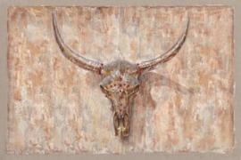 120 x 80 cm - Olieverfschilderij - Gewei aan de muur - olie op canvas