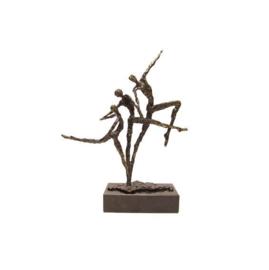 Bronzen beeldje - sculptuur - figuur - presteren
