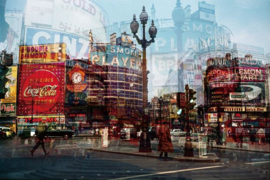 Glasschilderij - stad - 160x110 cm