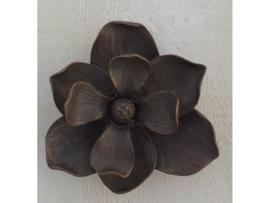 Tuinbeeld - bronzen beeld - Deurklopper bloem - Bronzartes - 13 cm hoog