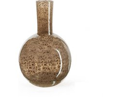 Design vaas Globe small - Fidrio Bronze - glas, mondgeblazen - hoogte 20 cm