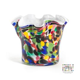 Design vaas Fidrio - Wave Candy - gekleurd glas - mondgeblazen - 12 cm hoog --