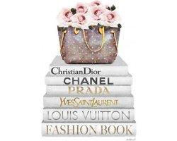 60 x 80 cm - Glasschilderij - Fasion Mode - Chanel