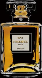 80 x 80 - Glasschilderij parfumfles - schilderij Chanel - fotokunst - foto print op glas