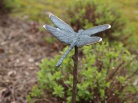 Metalen tuinsteker - tuindecoratie - Libelle
