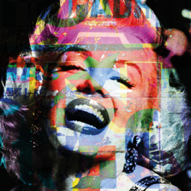 120 x 120 - Schilderij Dibond - Foto op aluminium - Marilyn Monroe - Mondiart