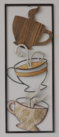 Frame Art - Abstract - koffie