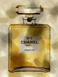 60 x 80 cm - Glasschilderij - schilderij - Parfum - CHANEL N°5 - foto print op glas