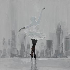 Olieverfschilderij - Danseres Silhouet