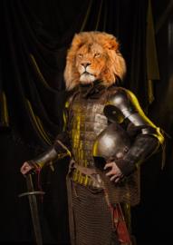 60 x 90 cm - Glasschilderij - schilderij - zelfportret leeuw - foto print op glas ---