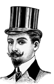 Foto op hout - Man met hoed