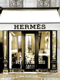 60 x 80 cm - Glasschilderij - schilderij - Hermes winkel - foto print op glas