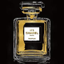 80 x 80 cm - Glasschilderij - schilderij - Chanel parfum fles - foto print op glas --