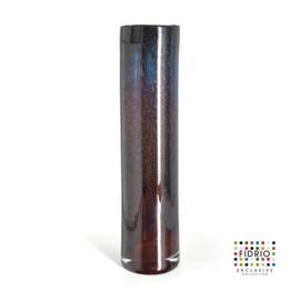 Design vaas Fidrio - glas kunst sculptuur - cilinder - Moonlight - mondgeblazen - 53 cm hoog --