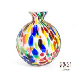 Design vaas Fidrio - Bolvase Candy - gekleurd glas - mondgeblazen - 19 cm diep --