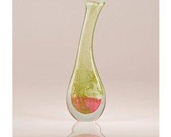 Design vaas Lampadina - Fidrio MISTIQUE PINK - glas, mondgeblazen bloemenvaas - diameter 12 cm hoogte 38 cm
