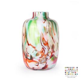 Design vaas Fidrio - glas kunst sculptuur - toronto - Mixed colours - mondgeblazen - 27 cm hoog --