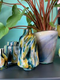 Design vaas Fidrio - glas kunst sculptuur - Vitra colori - mondgeblazen - 20 cm hoog --