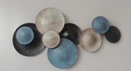 xxx Metalen wanddecoratie - wanddeco - cirkels