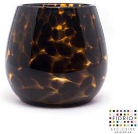 Design vaas Fiore - Fidrio LEPPARD - glas, mondgeblazen bloemenvaas - hoogte 15 cm --