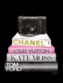 60 x 80 cm - Glasschilderij - schilderij - Chanel - Louis Vuitton - foto print op glas