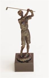 bronzen beeldje - sculptuur - sport - golfster - Martinique