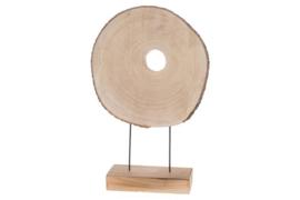 Houten kunst - Beeld - sculptuur - houtenschijf