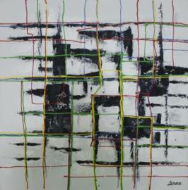 Olieverfschilderij - Modern Abstract - 100x100 cm