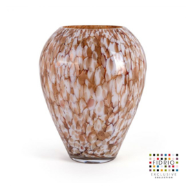 Design vaas Fidrio - Alore gold - gekleurd glas - mondgeblazen - 33 cm hoog