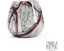 Design vaas Fiore - Fidrio ONYX FLAME - glas, mondgeblazen bloemenvaas - hoogte 22 cm