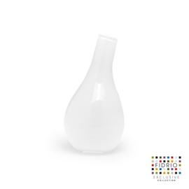 Design vaas Fidrio - glas kunst sculptuur - Pisa - Opal - mondgeblazen - 18 cm hoog --