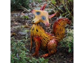 Tuinbeeld - beeld metalen vos --