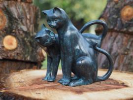 Tuinbeeld - bronzen beeld - Katten - Bronzartes
