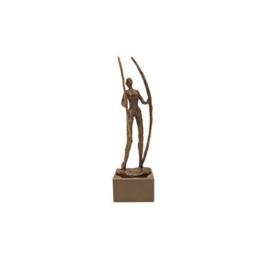 Bronzen beeldje - sculptuur - figuur - bergen verzetten