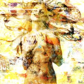 80 x 80 cm - Schilderij Dibond - Foto op aluminium - Naakte vrouw - erotiek - fotokunst - Mondiart