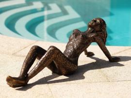 Tuinbeeld - bronzen beeld - Naakte vrouw - Bronzartes --