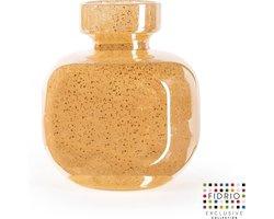 Design vaas Olympia - Fidrio COPPER - glas, mondgeblazen bloemenvaas - hoogte 20 cm