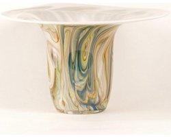 Design vaas Fiore - Fidrio FINE LINES - glas, mondgeblazen - diameter 33 cm hoogte 19 cm
