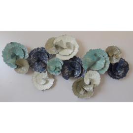 Metalen wanddecoratie - geschulpte cirkels