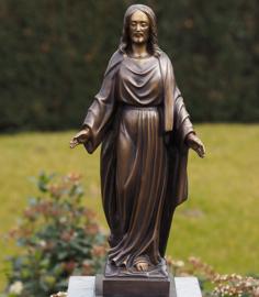 Beeld brons - Grafdecoratie - Jezus - Bronzartes - 53 cm hoog