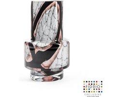 Design vaas Nuovo - Fidrio ONYX FLAME - glas, mondgeblazen bloemenvaas - diameter 7,5 cm hoogte 18 cm