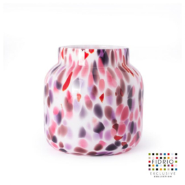 Design vaas Fidrio - glas kunst sculptuur - bloom - Sensation - mondgeblazen - 20 cm hoog